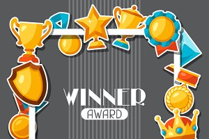 Awards and trophy sticker background