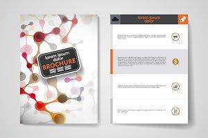 Brochure in molecule style