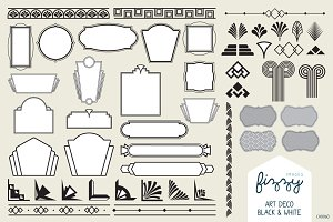 50x Art Deco Vector Elements
