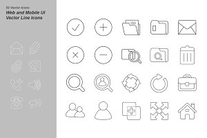 59 Web and Mobile UI Vector Icons