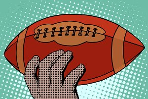 The ball of American football