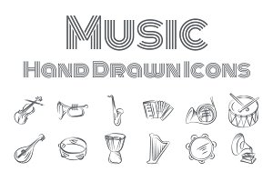 Music Hand Drawn Icons