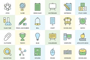 100+ School and Education Icon Set