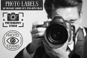 Photo Studio Labels and Logos