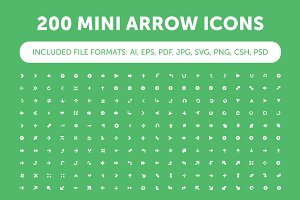 200 Mini Arrow Icons
