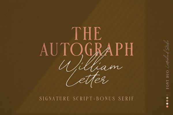 William Letter Signature Script