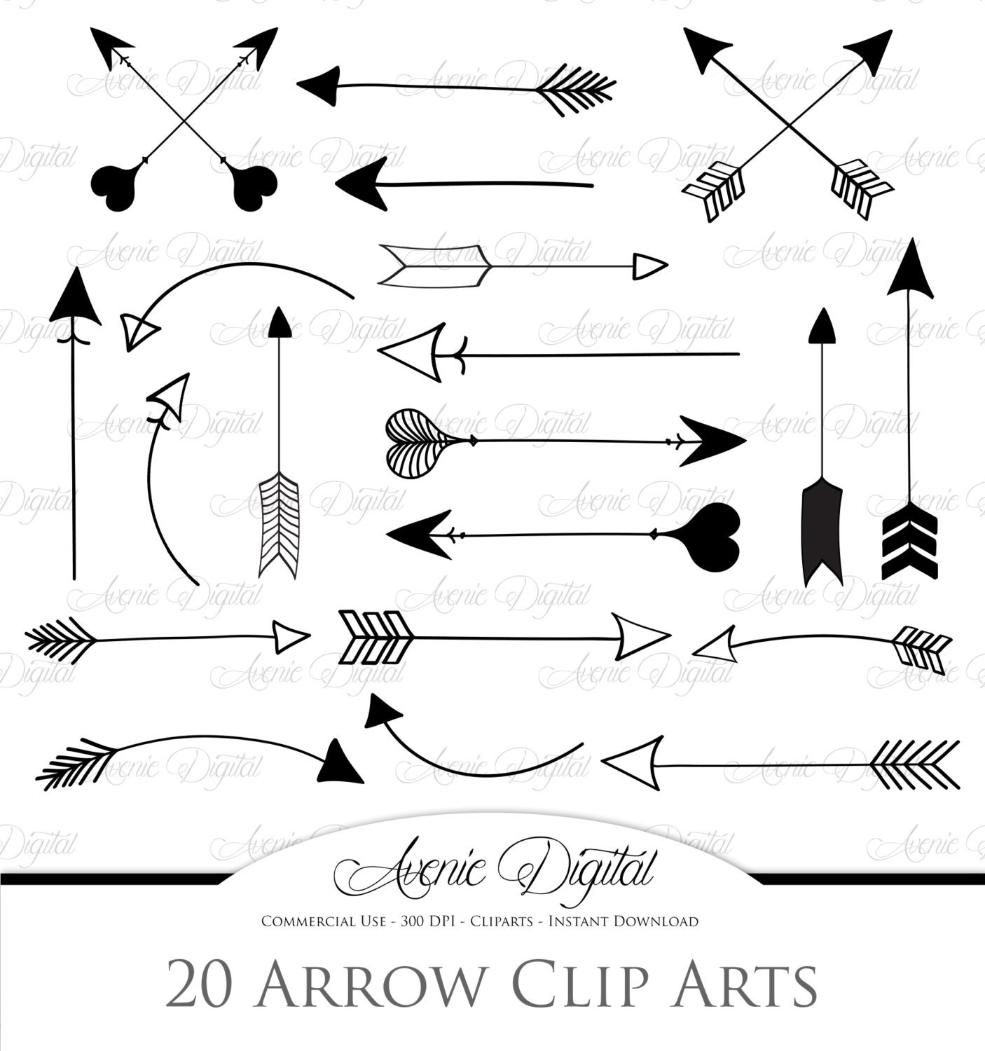 Arrows Clipart And Vectors Illustrations Creative Market