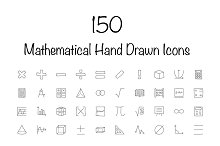 150 Mathematical Hand Drawn Icons