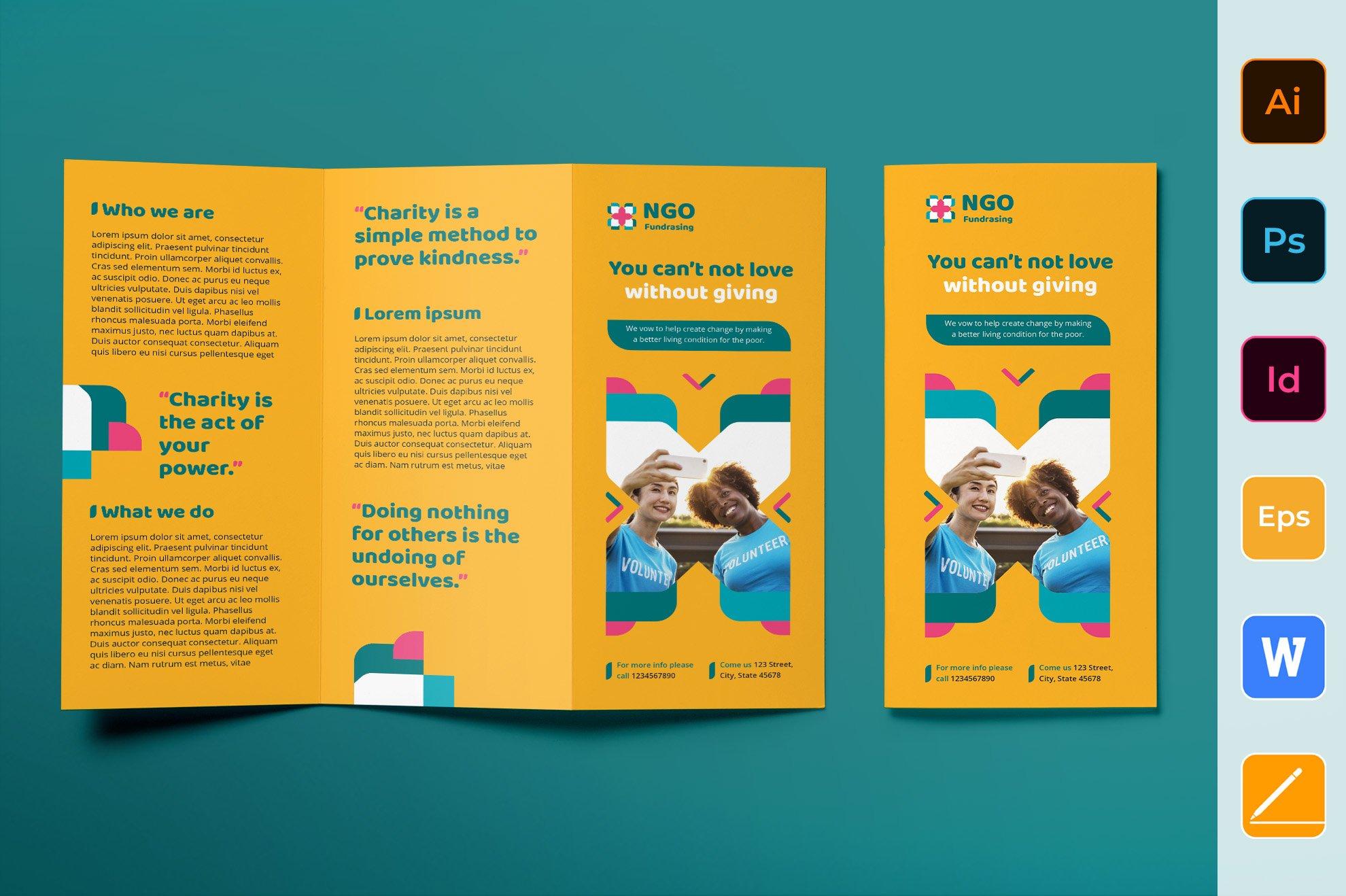 NGO Brochure Trifold Inside Ngo Brochure Templates