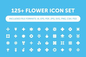 125+ Flower Icon Set