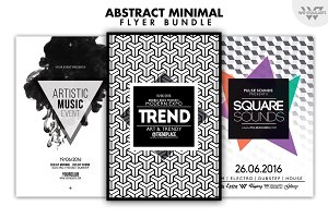 3in1 ABSTRACT MINIMAL Flyer Bundle