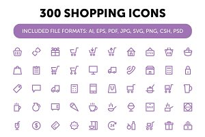 300 Shopping Icons