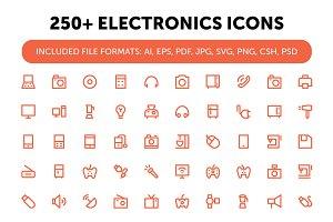 250+ Electronics Icons