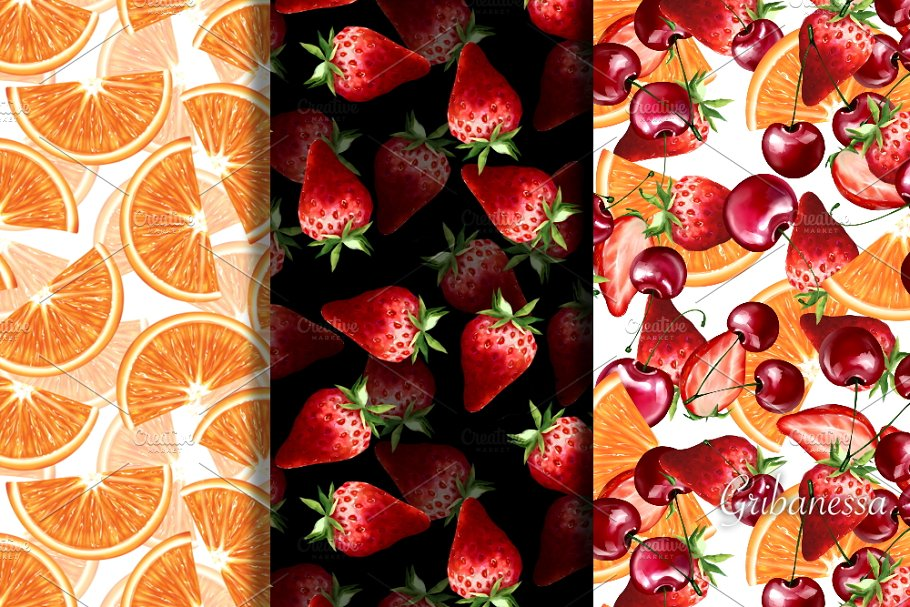 Fruit and berry patterns