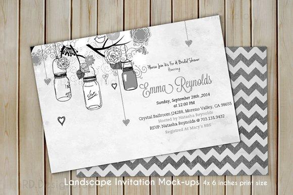 4x6 inches Invitation Card Mockup