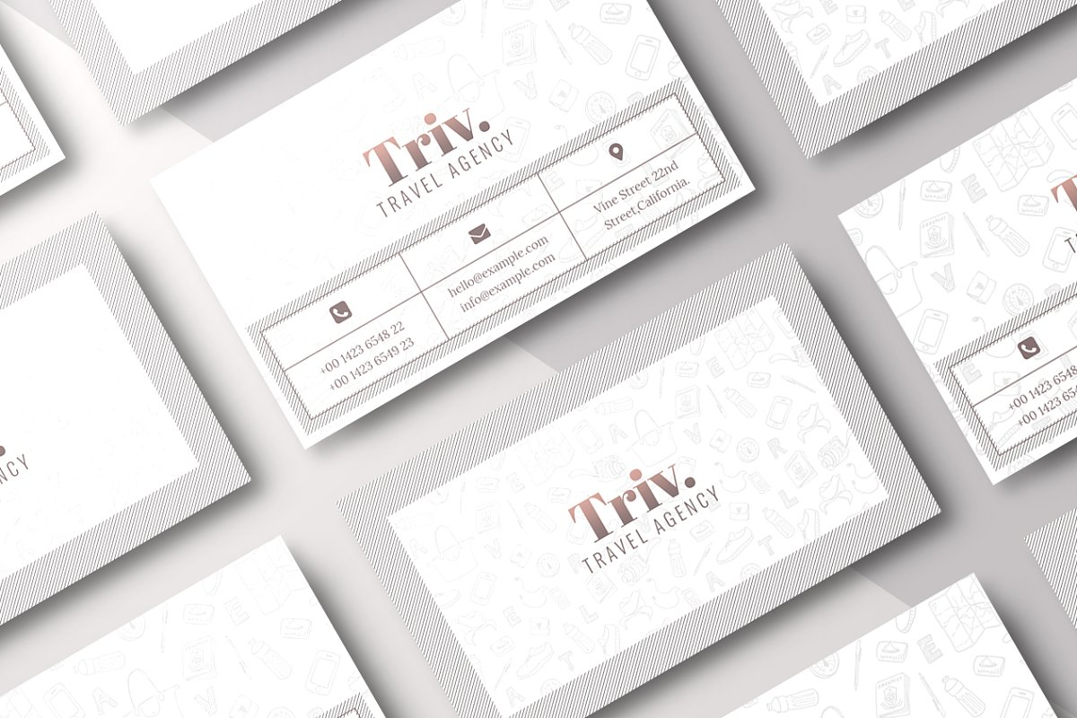 Travel Agency Business Card & Mockup