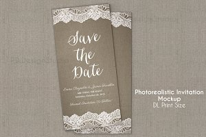 DL invitation/flyer Mockup