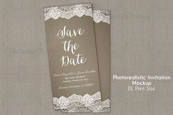 Download DL invitation/flyer Mockup