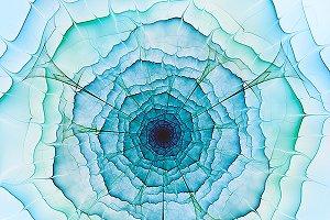 Aqua fractal flower