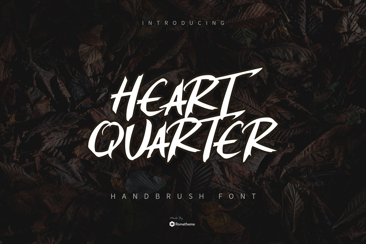 Heart Quarter - Brush Font