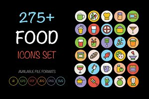 275+ Food Icons Set