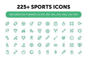 225+ Sports Icons Set