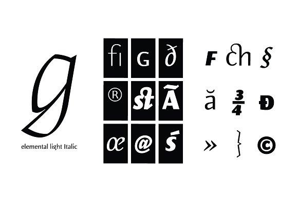 Elemental Sans Pro in Sans-Serif Fonts - product preview 2