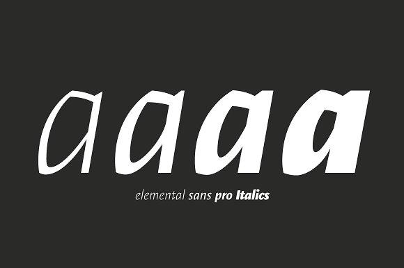 Elemental Sans Pro in Sans-Serif Fonts - product preview 3