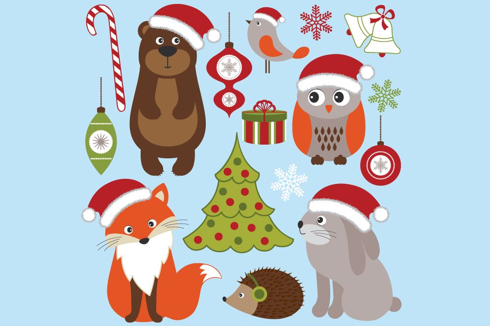 Christmas Woodland Animals ~ Illustrations ~ Creative Market