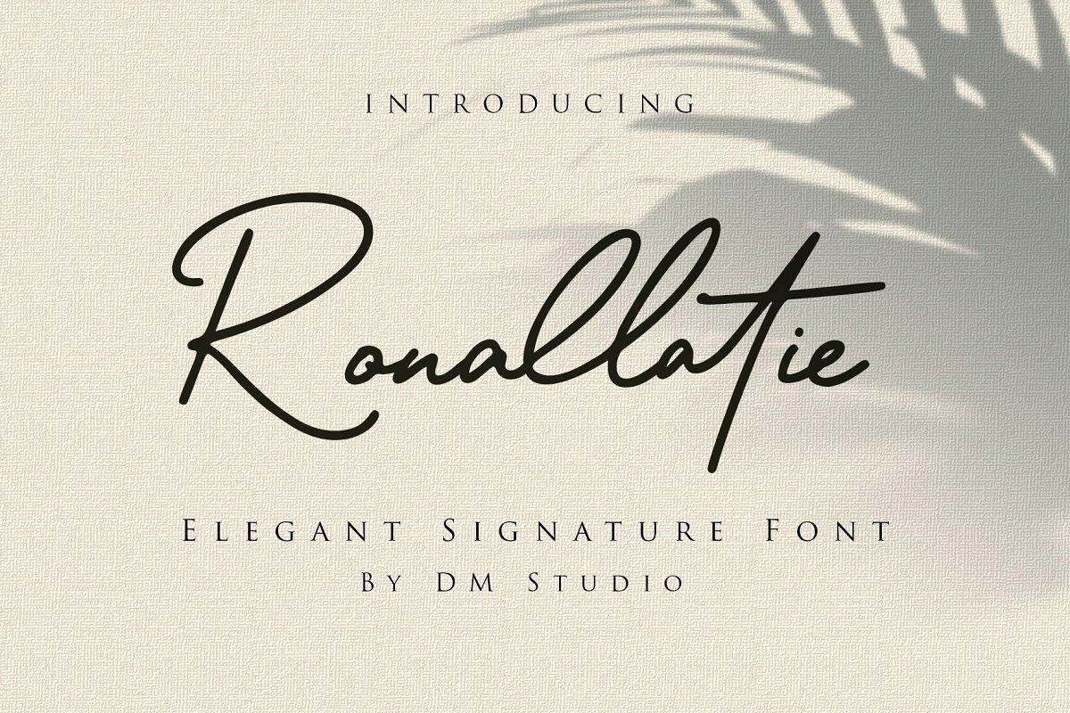 Ronallatie - Elegant Signature Font