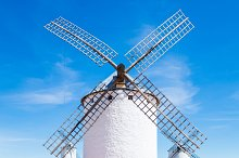 Typical windmills of Region of Casti