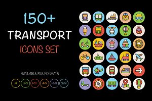 150+ Transport Icons Set