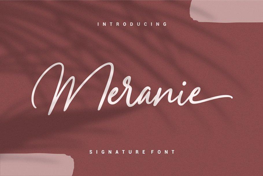 Meranie - Signature Font