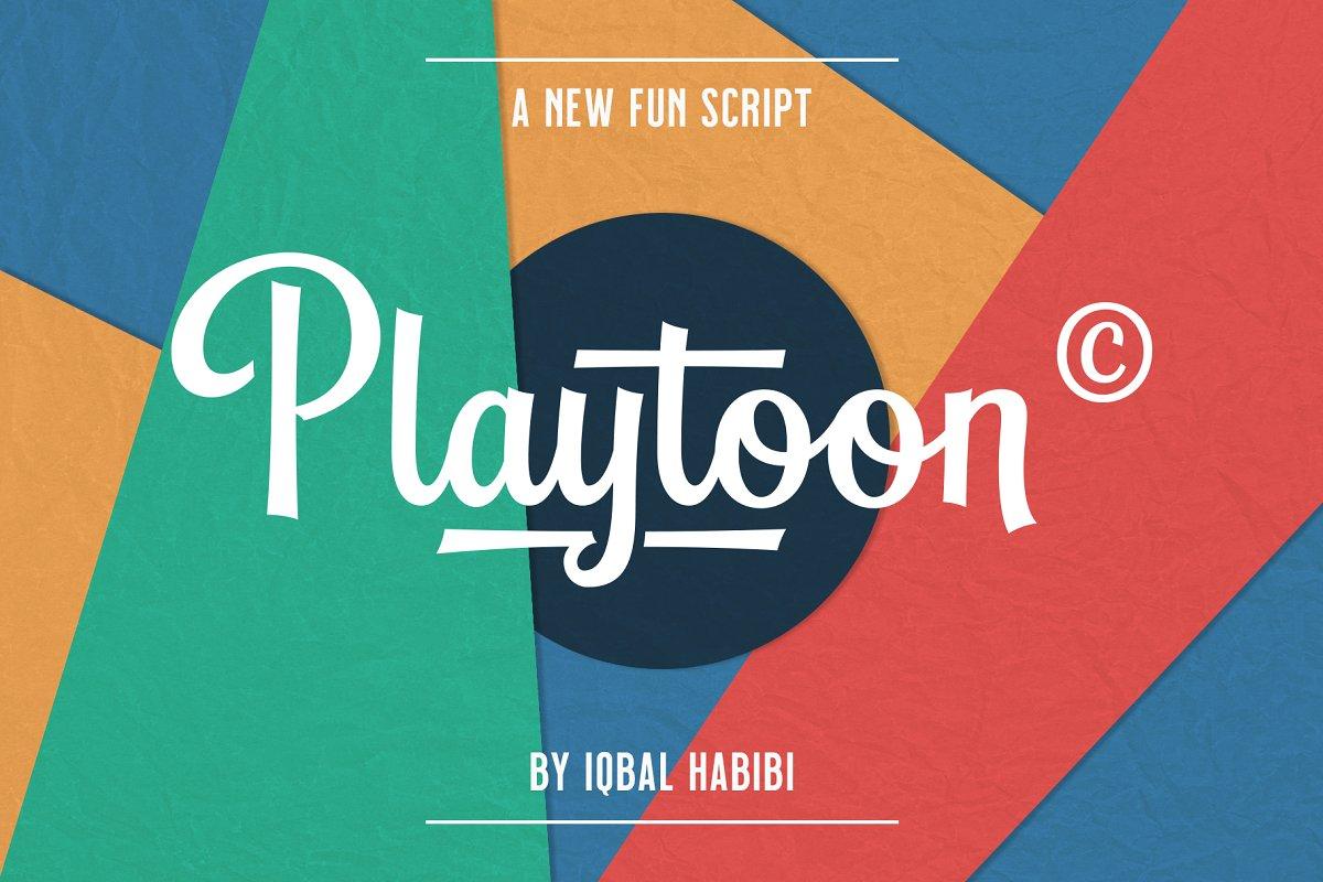 Playtoon - Script Font