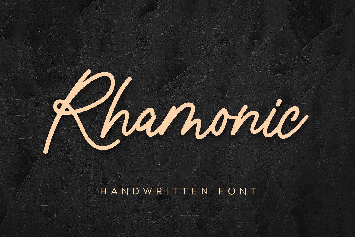 Rhamonic handwritten font