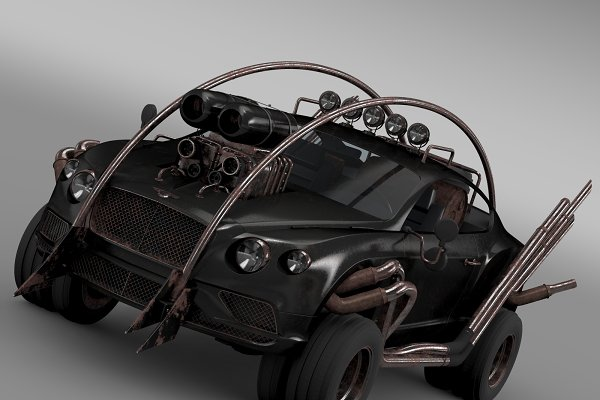 3D Vehicles - Mad Max Grizzly Bentley Continental