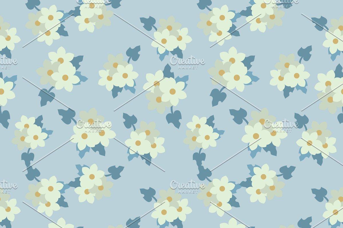 Seamless white flowers