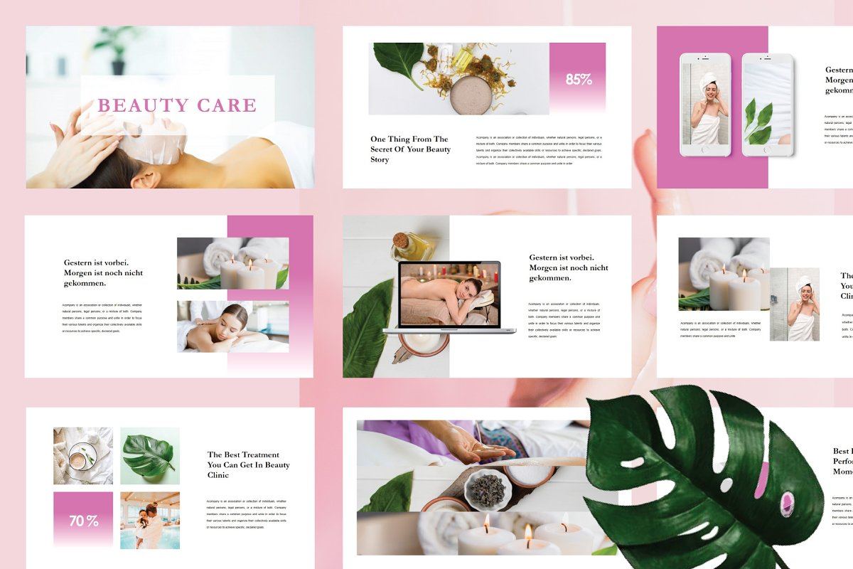 Beauty Care Powerpoint Template Powerpoint Templates