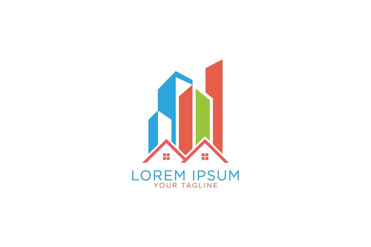 Creative Colorful Building Logo