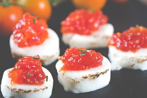 Goat cheese with tomato jam