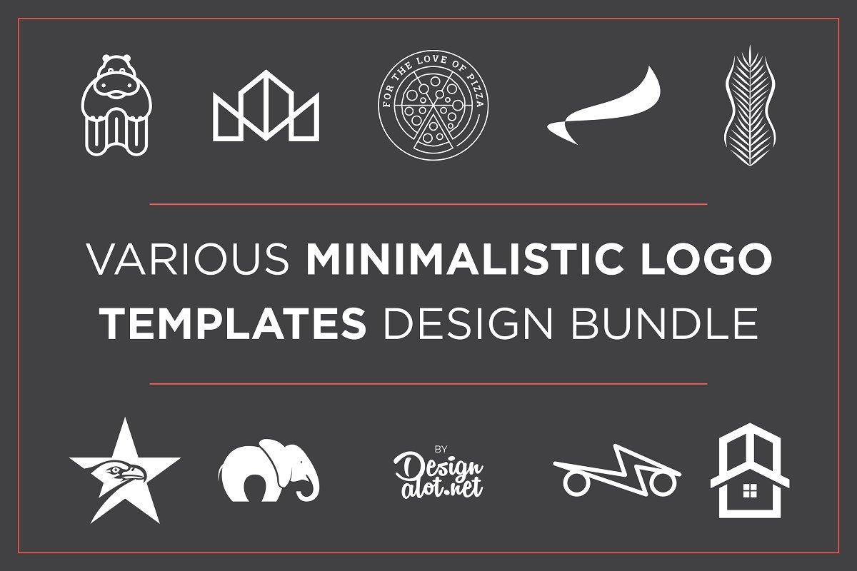 Minimalistic Logo Templates Bundle in Logo Templates