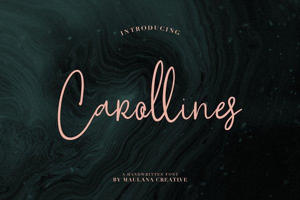 Carollines Script Font