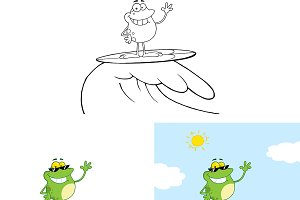 Smiling Frog Surfing  Collection