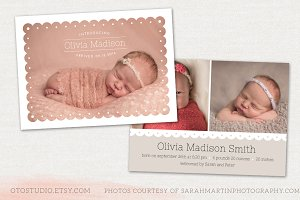 Birth Announcement Template CB033