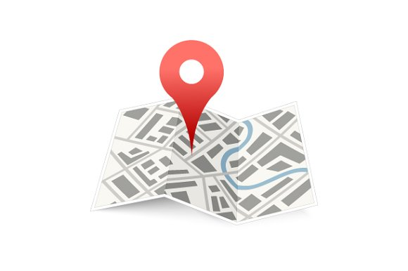 map with red pin icon icons creative market
