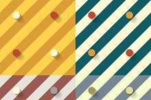 Set of four retro geometric patterns