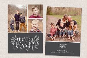 Christmas Card Template CC049