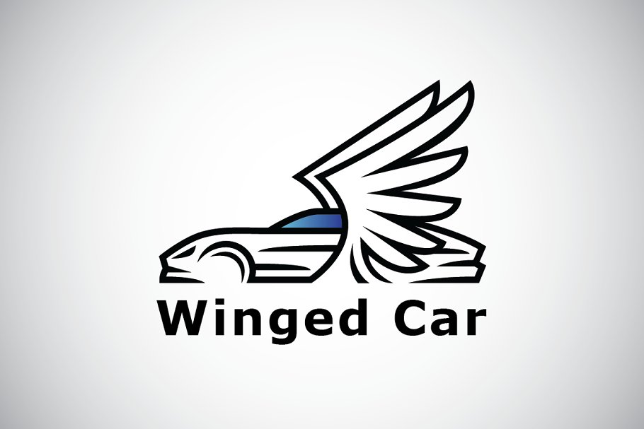 Winged Sport Car Logo Template