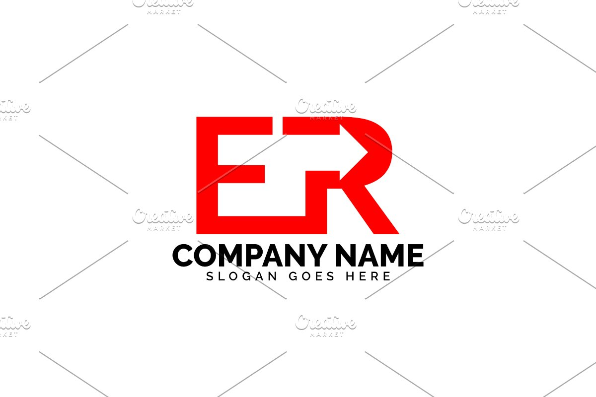 er letter arrow logo