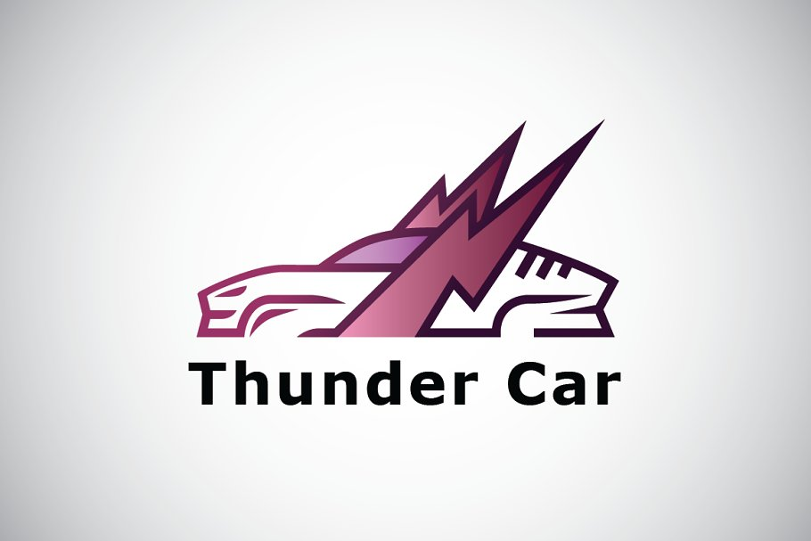 Winged Thunder Car Logo Template